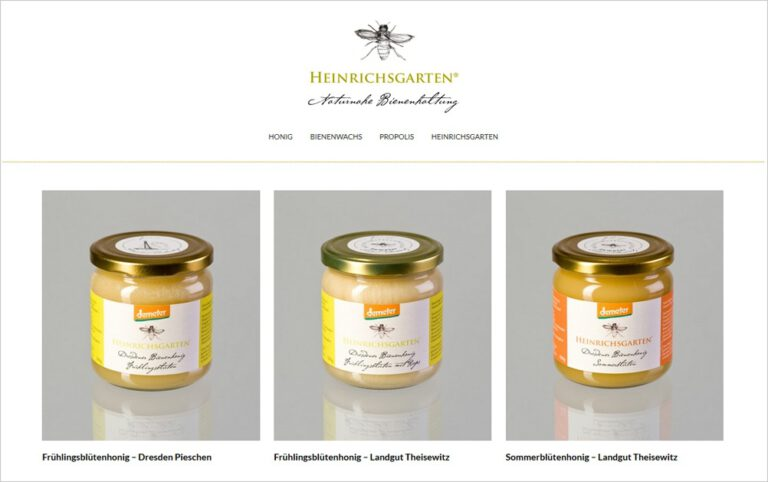 Heinrichsgarten Online-Shop